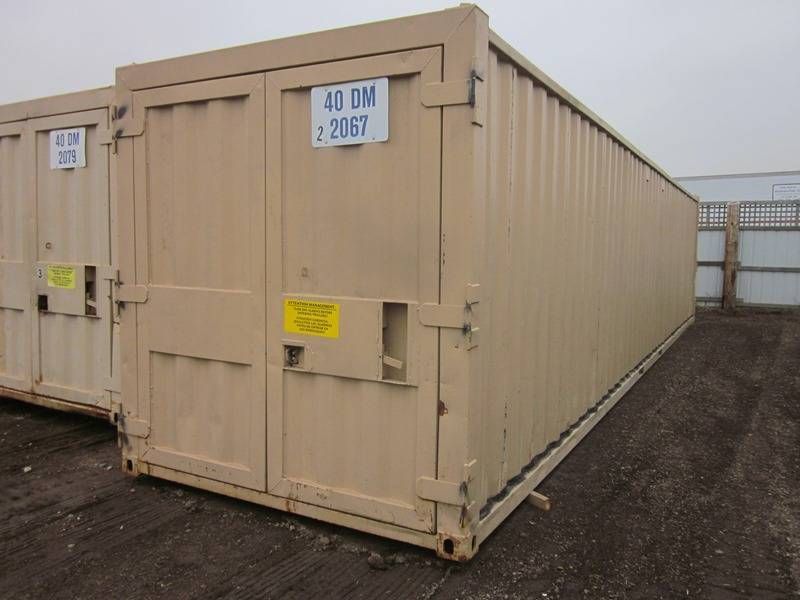 Nine Containers 48 Ft Rail Container 10 Ft Cargo Box