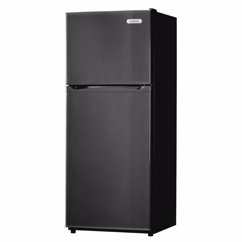 Vissani 9.9 cu. ft. Top Freezer Refrigerator in Black HVDR1040B small dent | KX Real Deals ...