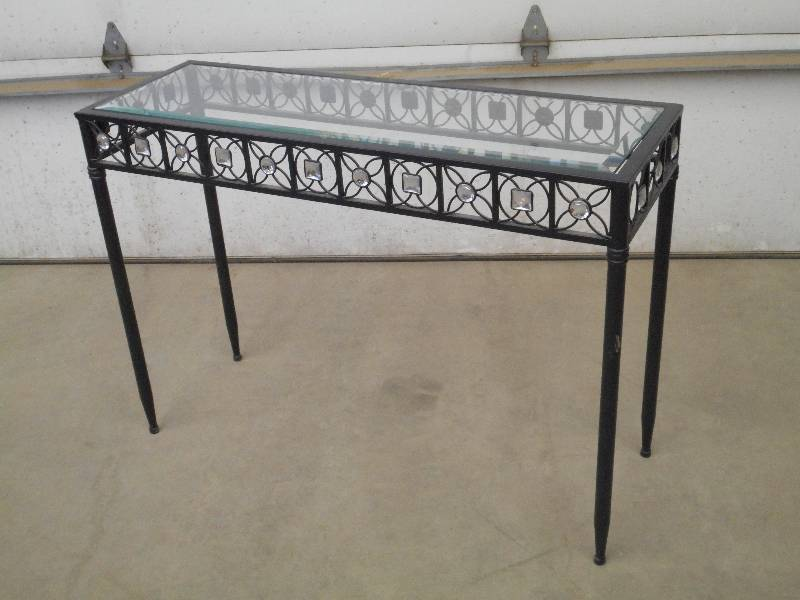 14 x42 steel sofa table with bevel le furniture for Liquidation de sofa