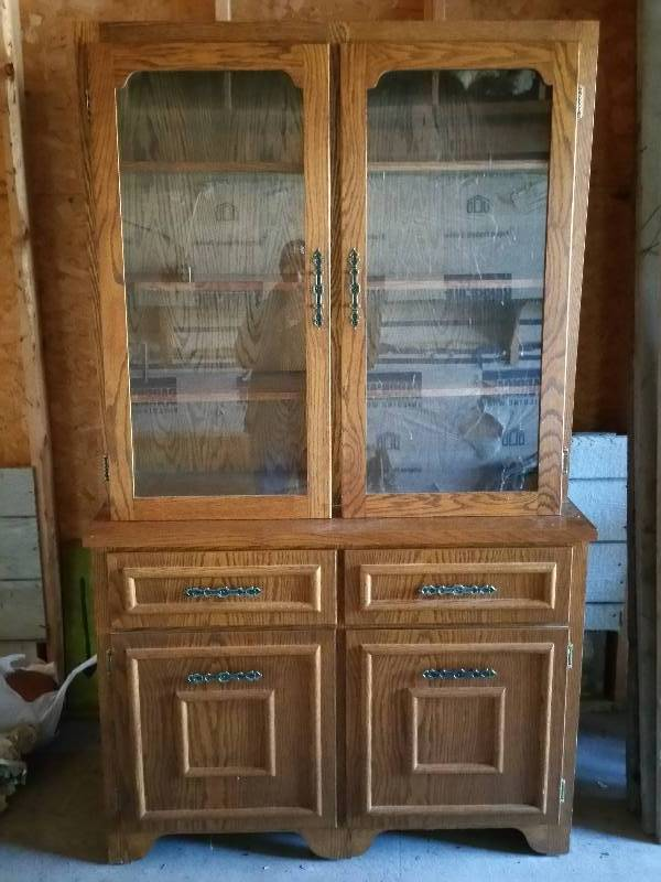 Two door wooden hutch walt pederson living estate for 100 doors 2 door 11