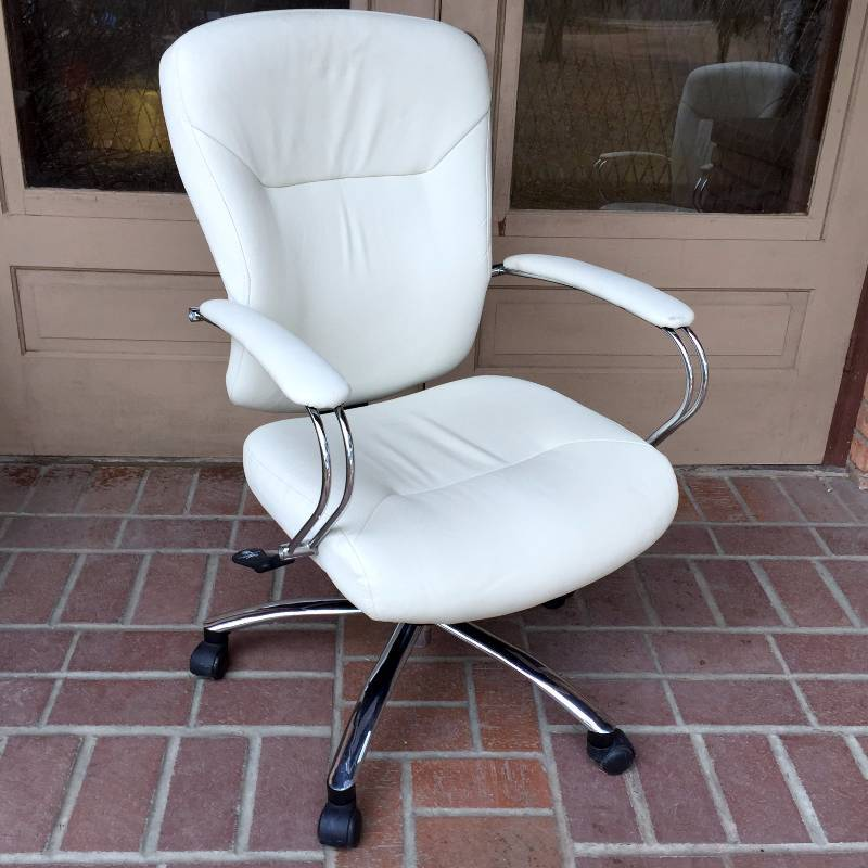 leather taupe chrome silver sheenmax enterprise ltd white office chair