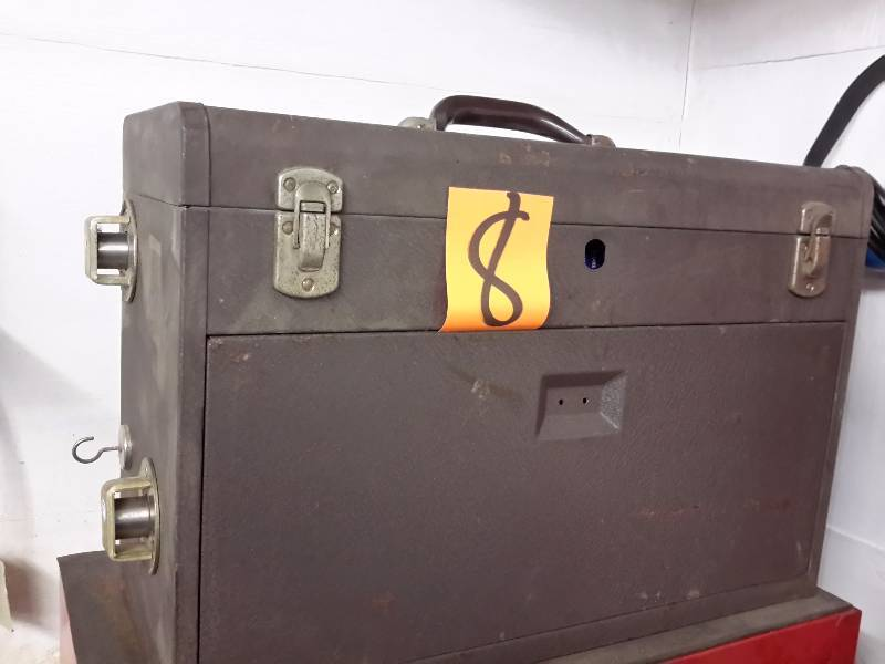 Kennedy Tool Box Over 40 Years Old Brown Wrinkle Paint