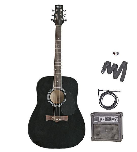 peavey acoustic electric guitar with amplifier blk sota surplus auction 10 f. Black Bedroom Furniture Sets. Home Design Ideas