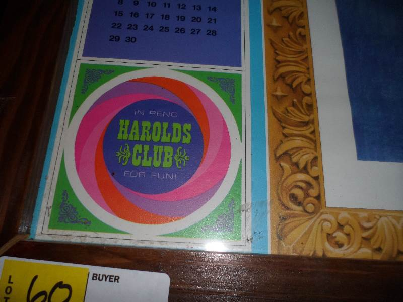 Reno Calendar May : Harolds club reno nevada pin up girl calendar march