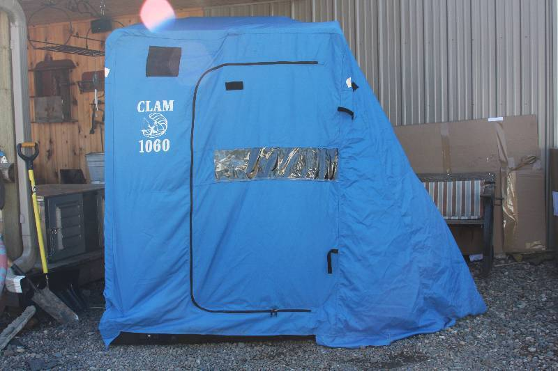 Clam portable fish house firearms estate consignment for Portable fish house