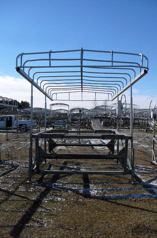 Hewitt Aluminum Cantilever Lift With Canopy Boat Lift