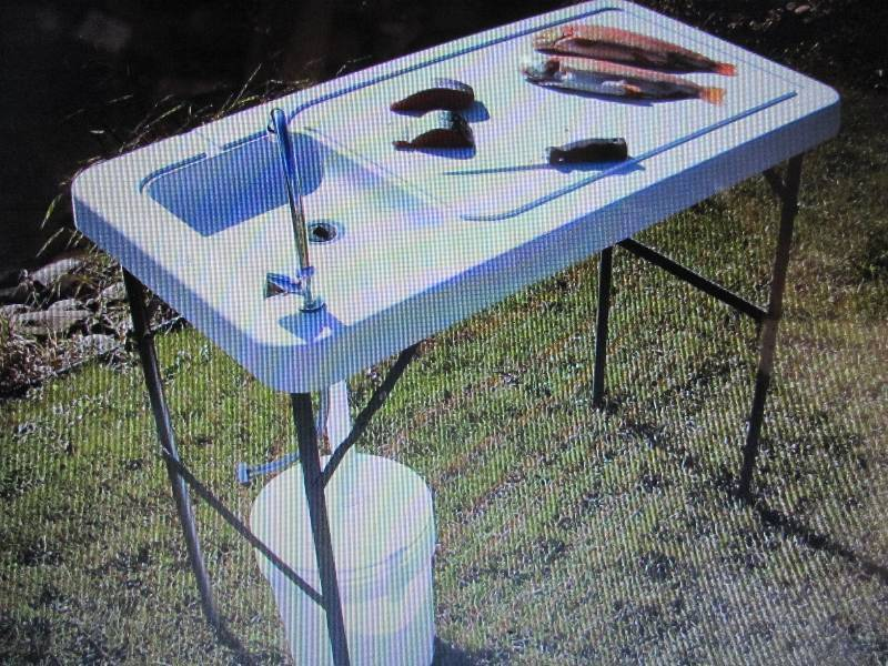 Fish game cleaning table fishing hunting camping for How to play fish table game