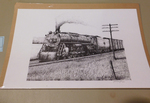 Signed Railroad Sketch by John Cartwright 1993