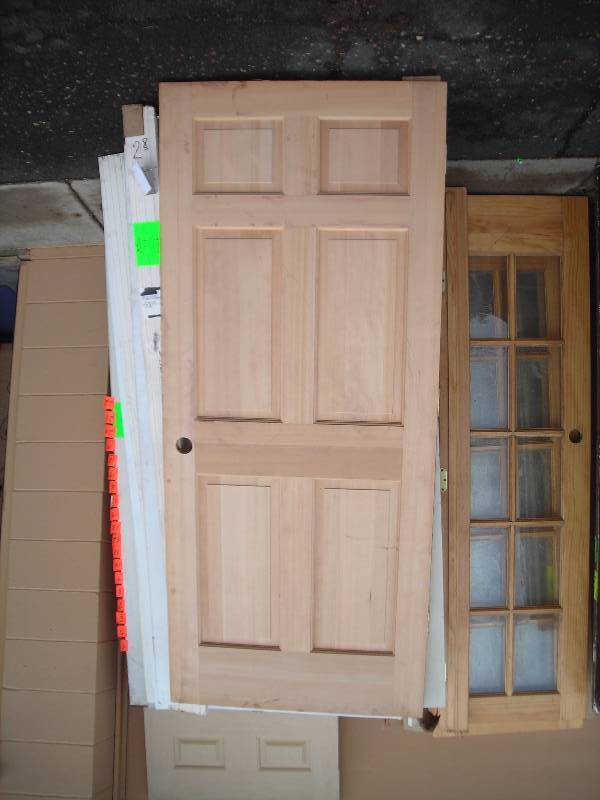 34x80 solid wood door new used building materials for Solid wood door construction
