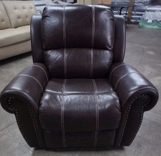High End Bella Collection Leather Power Recliner