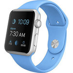 Apple Watch Sport with 42mm Silver Aluminum Case and Blue Sports Band