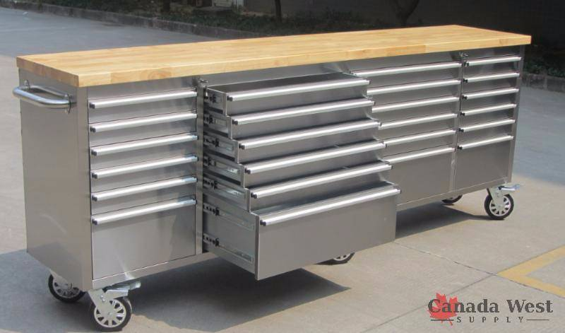 New No Reserve Stainless Benches Storage Buildings