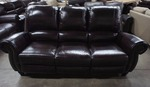 High End Broderick Collection Manual Reclining Leather Sofa