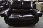 High End Broderick Collection Manual Reclining Leather Loveseat