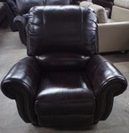 High End Broderick Collection Manual Reclining Leather Chair