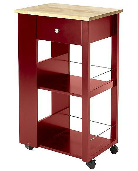 Red Kitchen Cart Alcove Early May Home Furnishings Sports And Rec Outdoors K Bid