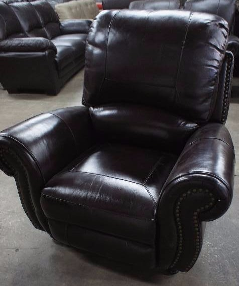 High end broderick collection manual reclining leather for High end furniture brand names