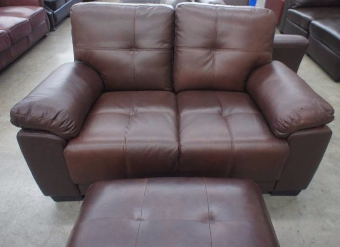 New 58 high end leather loveseat and ottoman name for High end furniture brand names