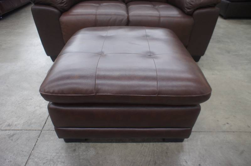New 58 Quot High End Leather Loveseat And Ottoman Name