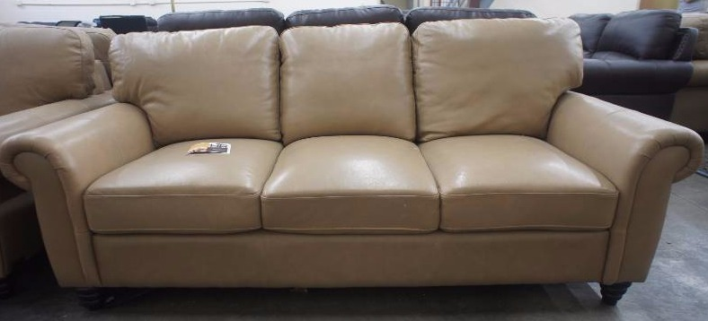 New 81 high end beige leather sofa name brand for High end furniture brand names