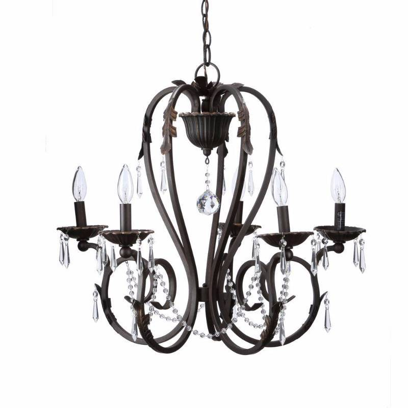 Home Decorators Collection Madison 5 Light Bronze Chandelier Bsz9115a 2 New Kx Real Deals