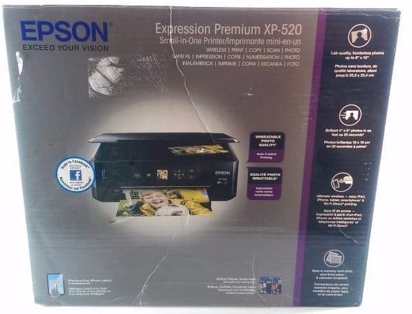 epson expression premium xp 520 wireless color photo printer with scanner and copier printer. Black Bedroom Furniture Sets. Home Design Ideas