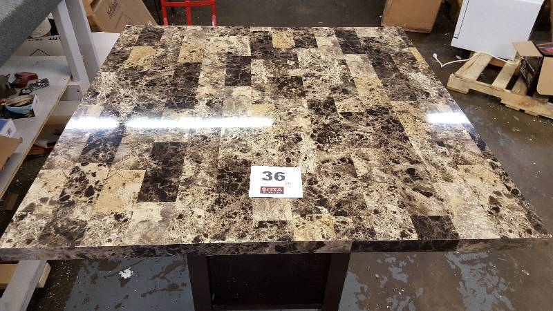 kitchens with islands square faux marble kitchen island sota surplus auction 13906