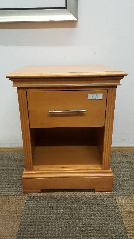 Maple Night Stand Very Heavy Construction Tons Of Solid Maple High End Hardware Furniture