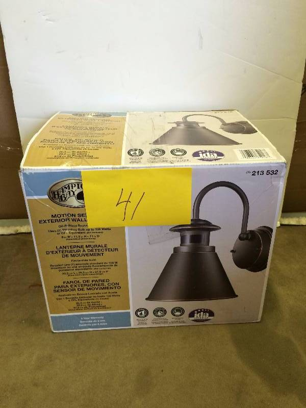 Hampton Bay Motion Sensing Exterior Wall Lantern Kx Real Deals General Merchandise And