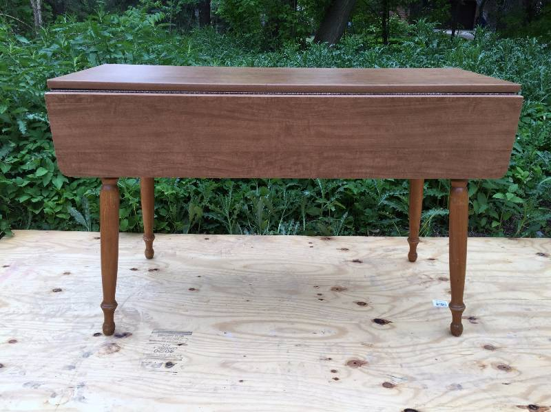 Retro Mid Century Modern Heywood Wakefield Laminate Top Drop Leaf Dining  Table   Beautiful! | Jireh Trading Company Community Benefit Auction #36 |  K BID