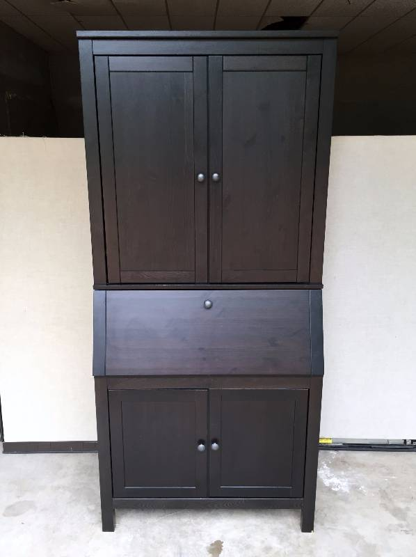 Wow Ikea Hemnes Blackish Brown Solid Wood Tall Large