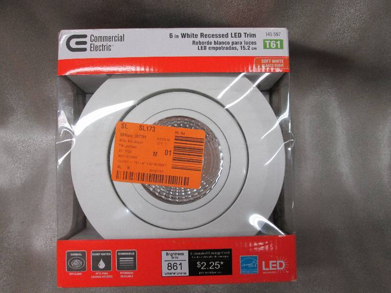 Commercial Electric 6 in White Recessed LED Trim Retail $42.97 .u0027 & Lights Ceiling Fans Electrical LED Upgrades More! in Dassel ...