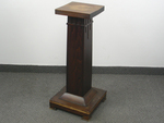 Antique Oak Arts & Crafts Pedestal Stand
