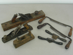 Lot of Antique Planes, Draw Knives etc.