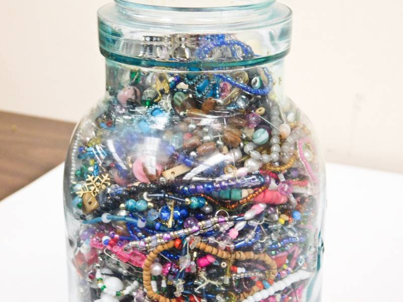 Bring A Trailer Auction >> large vintage ball jar filled with beads | TWC Trailer ...