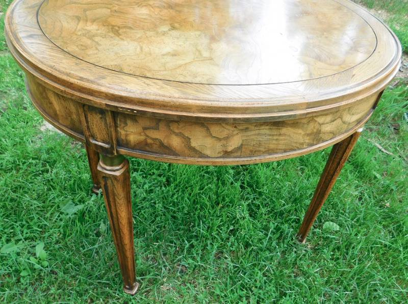Vintage Round Drum Style End Table