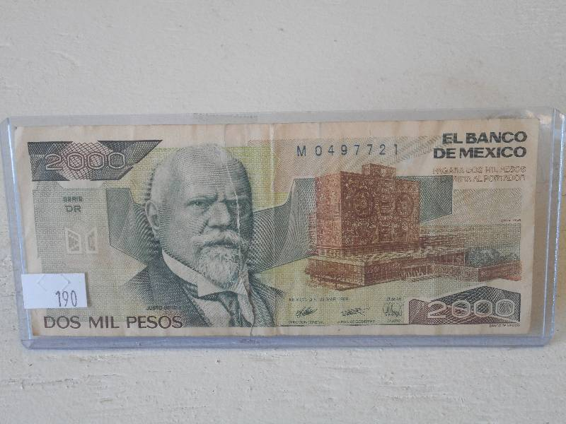1989 Mexico 2000 Dos Mil Pesos Le July Coins Amp Currency K Bid