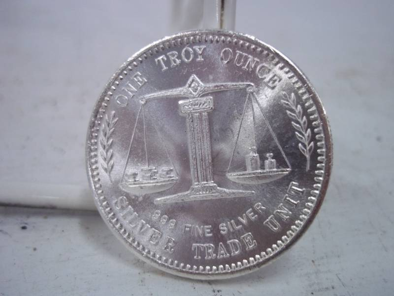 One Troy Ounce 999 Fine Silver