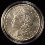 1890 MORGAN SILVER DOLLAR BU UNC IN AIRTITE HOLDER