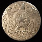1969 MEDALLIC ART CO. N.Y. AMERICAN LEGION MEDAL 50TH ANNIVERSARY .999+ PURE SILVER 1.26 TROY OZ.