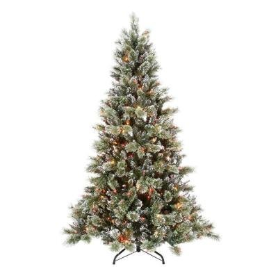 Martha Stewart Living 7.5 Ft. Pre-lit Sparkling Pine Artificial ...