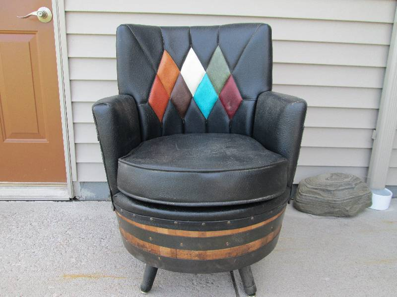 Amazing 1950s Whiskey Barrel Chair | Foley Wildlife u0026 Western Collection Auction | K-BID & Amazing 1950s Whiskey Barrel Chair | Foley Wildlife u0026 Western ...