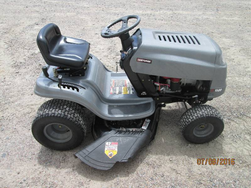 Craftsman Lt1500 Lawn Tractor 17 5 Le July Lawn