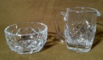 Beautiful Small Waterford Crystal Sugar Bowl & Creamer (excellent condition)