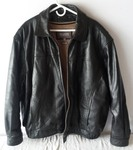 (like new  condition) Wilson Black Leather Coat Men's XXL (great Motorcycle Jacket)
