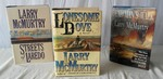 (3) Larry McMurtry 1st. Edition Hard Cover Books: Lonesome Dove, Sequel-Streets of Laredo & Sequel-Dead Mans Walk