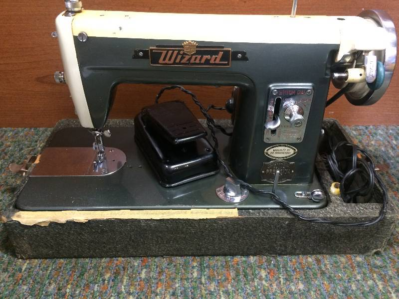 vintage wizard sewing machine