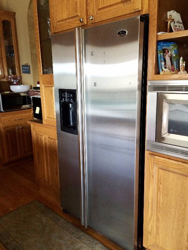 wow ge profile arctica customstyle 22 6 cu ft stainless side by rh k bid com Appliance BTU Chart Commercial Appliances