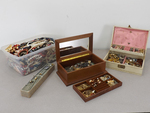 HUGE Lot of Vintage Costume Jewelry in Boxes