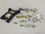 Great Lot of Vintage Military Badges, Buttons, Pins, Etc.